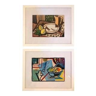 Cubist Still Life Gouaches - A Pair