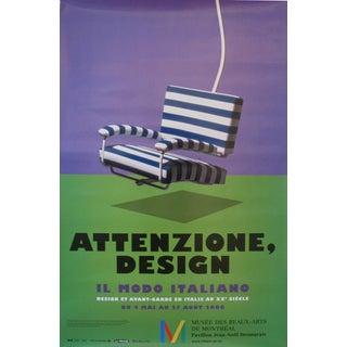 """2006 Design Exhibition Poster, """"Attenzione, Design"""", Il Modo Italiano (Striped Chair)"""