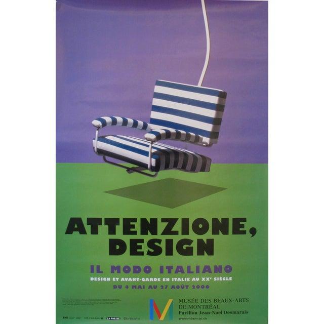 """2006 Design Exhibition Poster, """"Attenzione, Design"""", Il Modo Italiano (Striped Chair) - Image 1 of 2"""