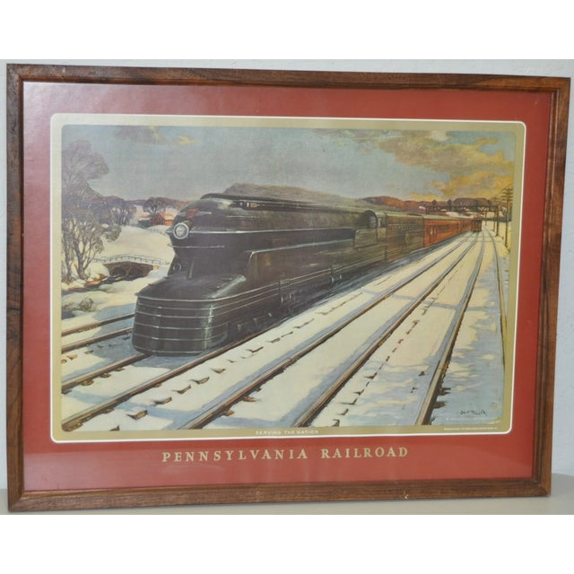 Vintage Pennsylvania Railroad Print - Image 2 of 5