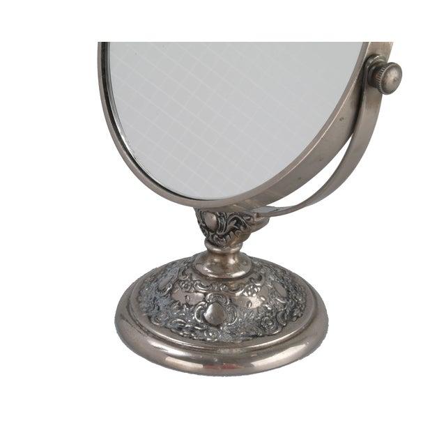 Silver-Plate Vanity Mirror - Image 5 of 9