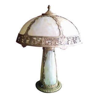 Antique Art Nouveau Style Glass Lamp