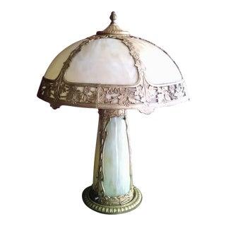 Antique Art Nouveau Style Glass Lamp