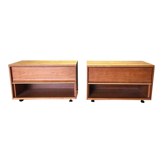 Blue Dot One Drawer Nightstands - A Pair - Image 1 of 8