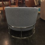 Image of Milo Baughman Gray & Chrome Base Tub Chair