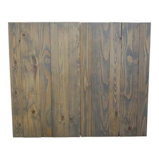 Twin Size Hanger Barn Walls Headboard in a Classic Gray Stain