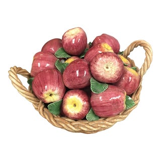 Italian Ceramic Basket of Apples