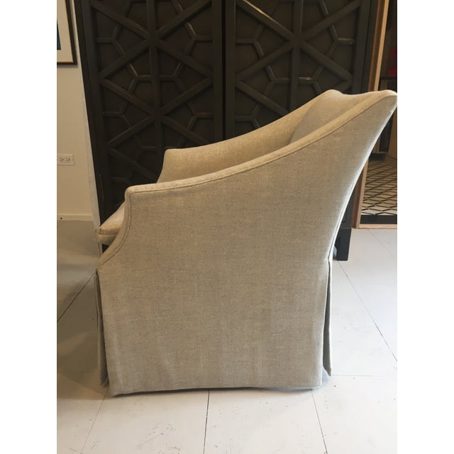 """Century Furniture Linen Skirted """"Coloney"""" Chair - Image 3 of 7"""