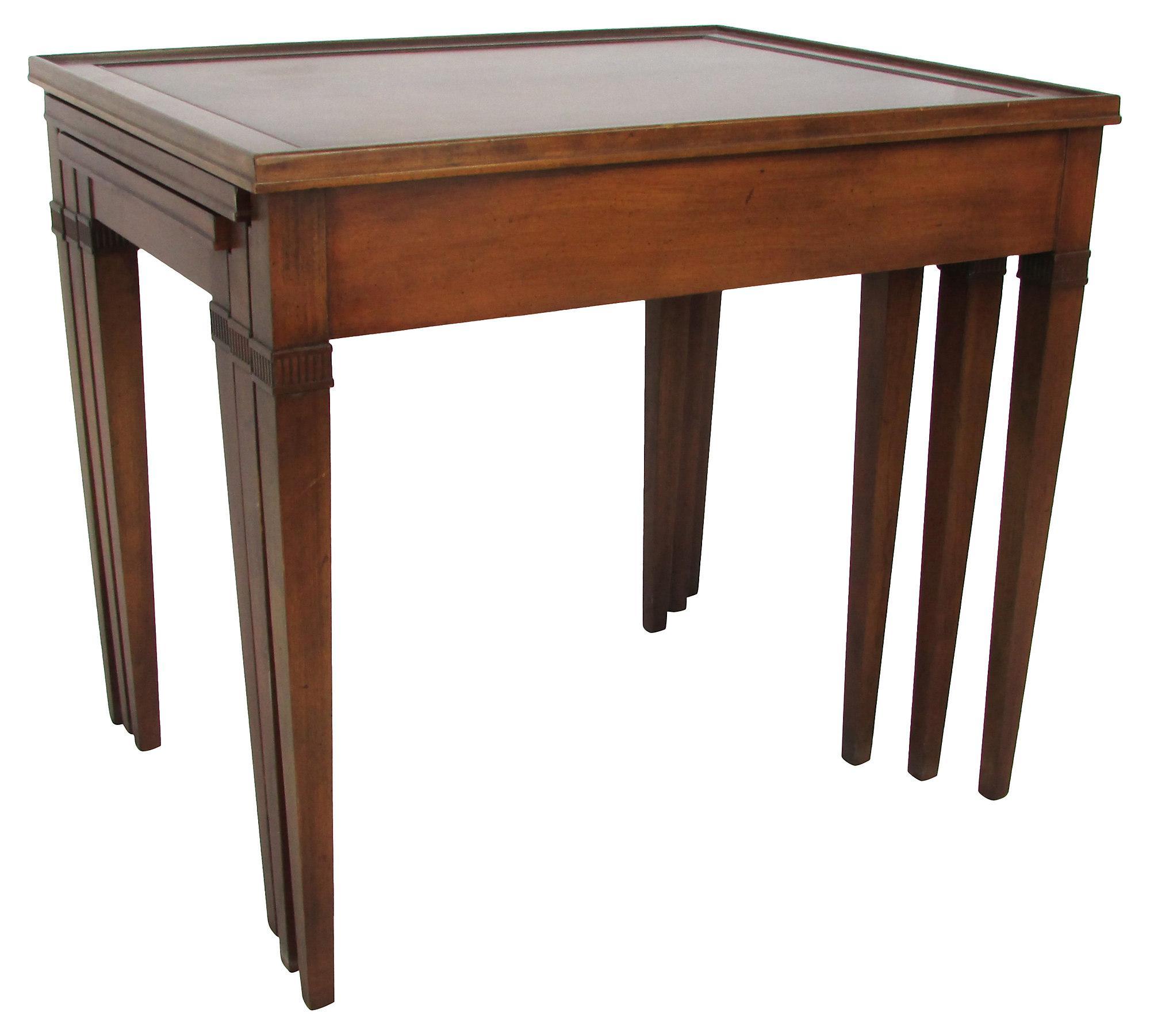 Amazing Image Of Regency Style Mahogany Nesting Tables   Set Of 3