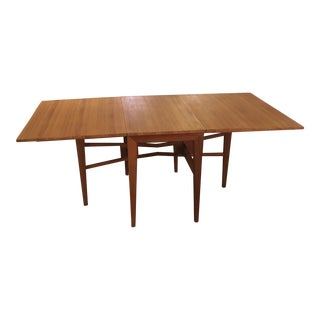 Vintage Teak Drop Leaf Gate Leg Dining Table