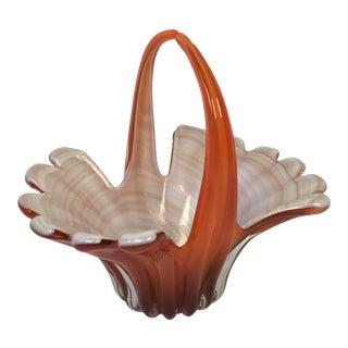 Vintage Murano Art Glass Basket