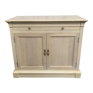 Ethan Allen White Flip-Top Bar
