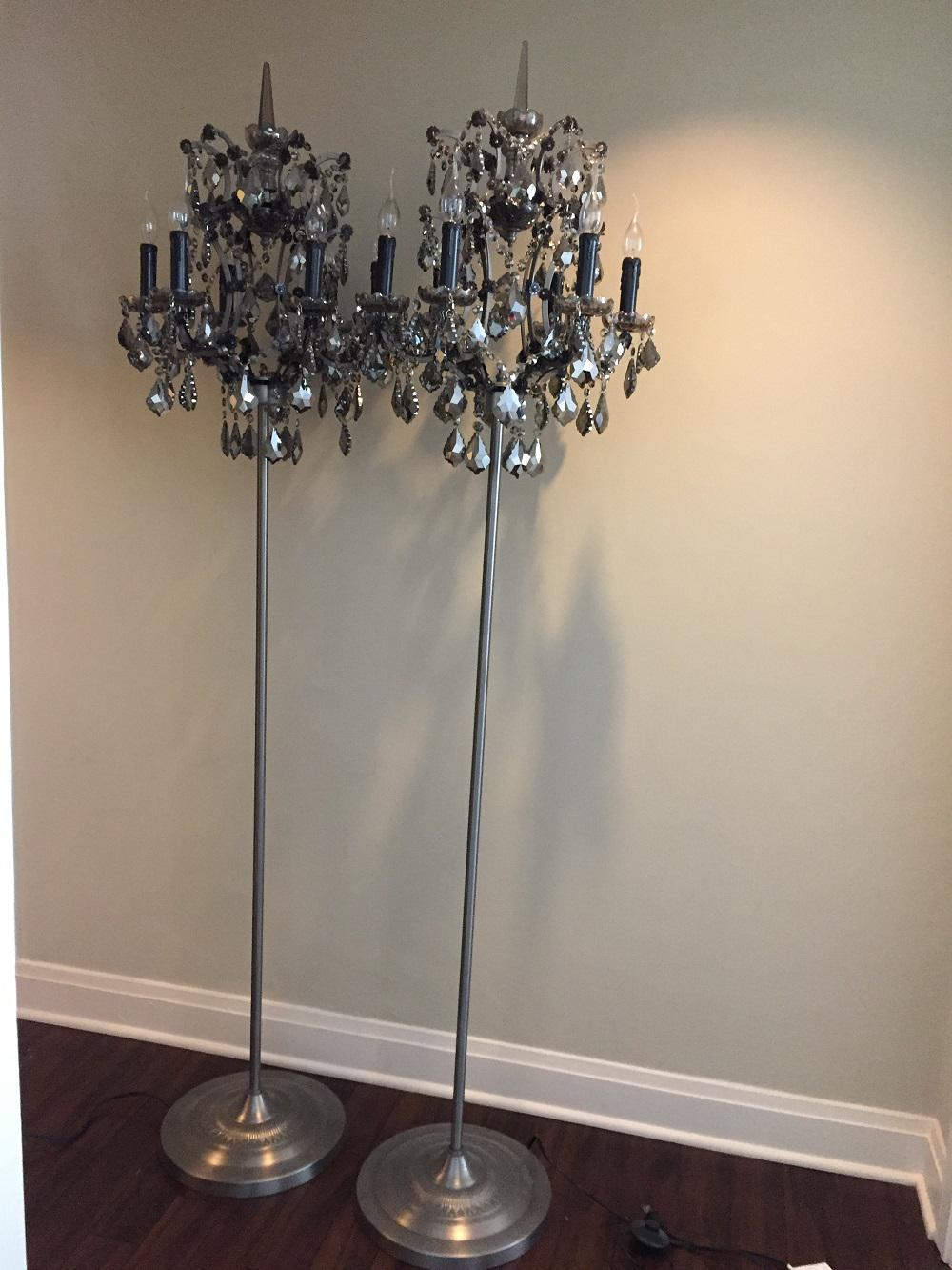restoration hardware rococo iron u0026 crystal floor lamp 2 available image 7