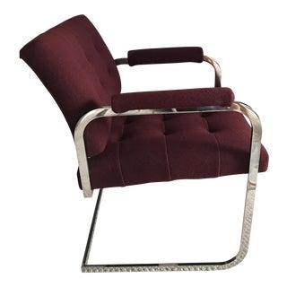 Milo Baughman Style Chrome Armchair by Patrician