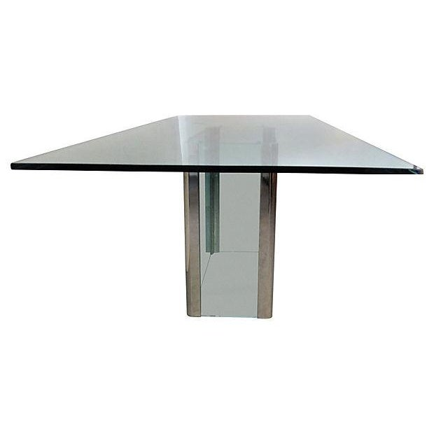 Mid-Century Pace Chrome & Glass Dining Table - Image 2 of 5