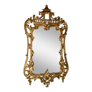 Vintage Gold Gilt Pagoda Mirror