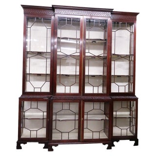 Large Mahogany Display Cabinet