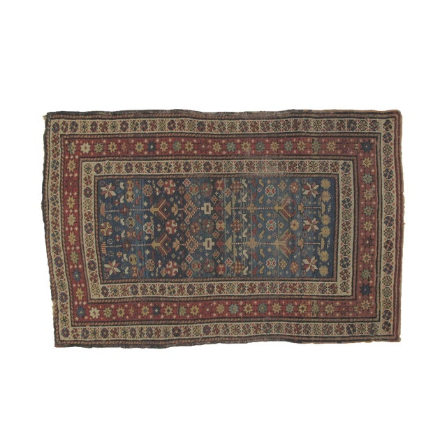 "Antique Russian Shirvan Rug - 3' X 4'6"" - Image 1 of 6"