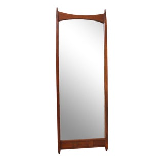Mid-Century Modern Mirror with Convex Top