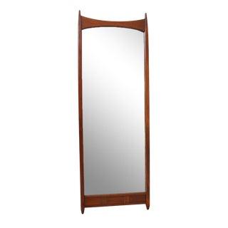 Mid-Century Modern Mirror with Convex Top