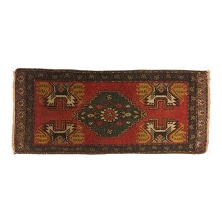 Handknotted Turkish Oushak Carpet - 1′6″ × 3′6″