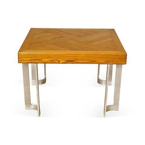 1970s Aluminum Base Coffee Table - Image 4 of 5