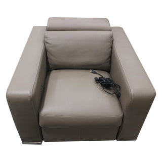 Roche Bobois Leather Electric Armchair