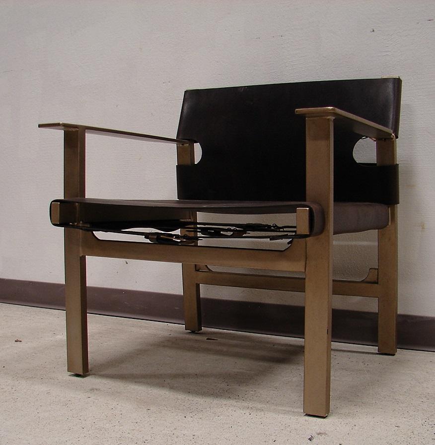 Bernhardt Mid Century Modern Leather Buckle Chair Chairish