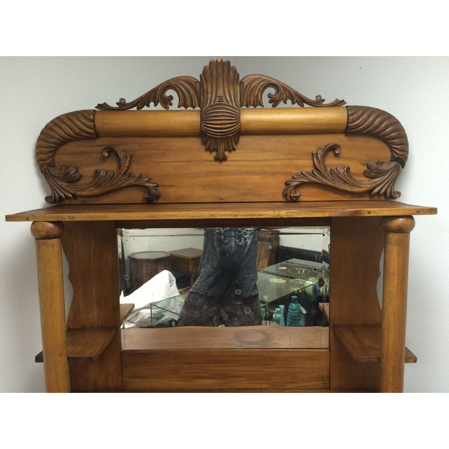 Antique Hand Carved Buffet With Mirror Chairish