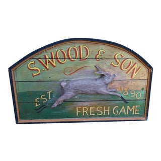 Primitive Wood Sign of Rabbit