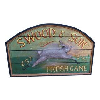 Primitive Wood Sign of Rabbit