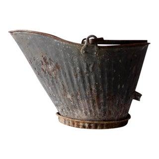 Antique Coal Scuttle Planter