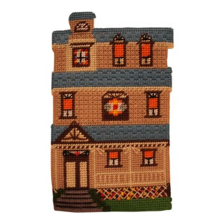 1970's House Needlepoint