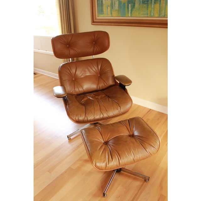 Eames Style Selig Chair & Ottoman, 1975 - Image 3 of 10