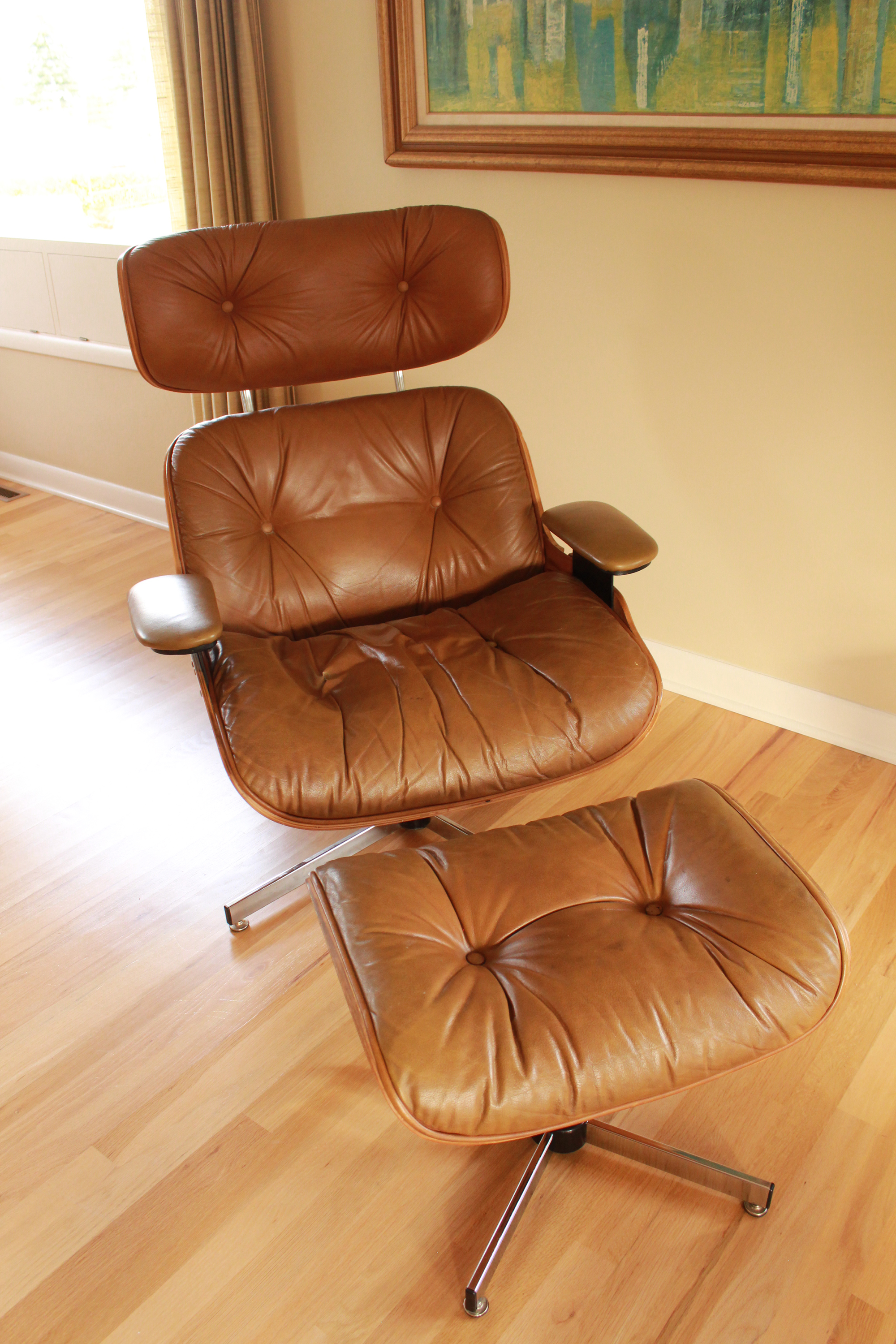Eames Style Selig Chair U0026 Ottoman, 1975   Image 3 Of 10