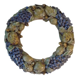 Mid-Century Ceramic Fruit Wreath