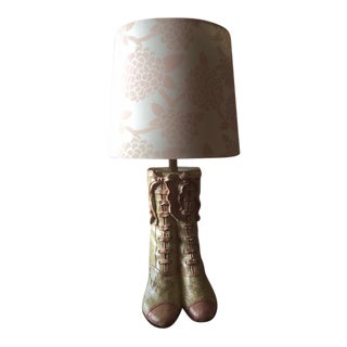 Vintage Victorian Boot Lamp