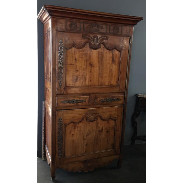 Image of Antique 18th Century Fruitwood Bonnetiere