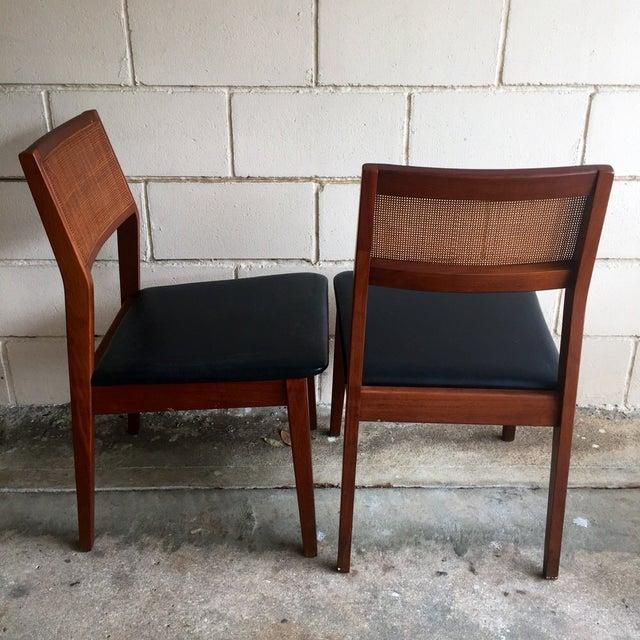 Mid-Century Walnut Dining Chairs - Set of 4 - Image 4 of 7
