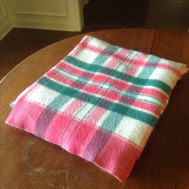 Vintage Plaid Picnic/Gameday Blanket - Image 2 of 11