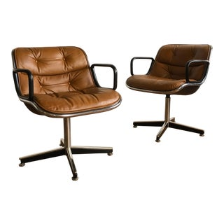 Charles Pollock for Knoll Executive Armchairs - A Pair
