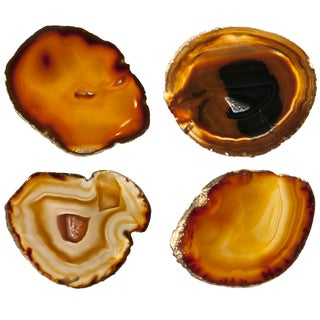 Agate Slice Coasters - Set of 4