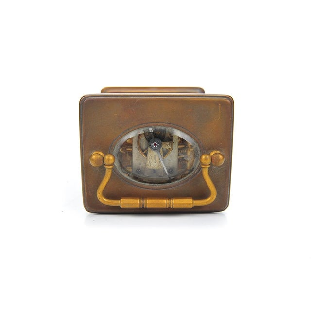 Stowell & Co. Antique Brass Carriage Clock - Image 9 of 9