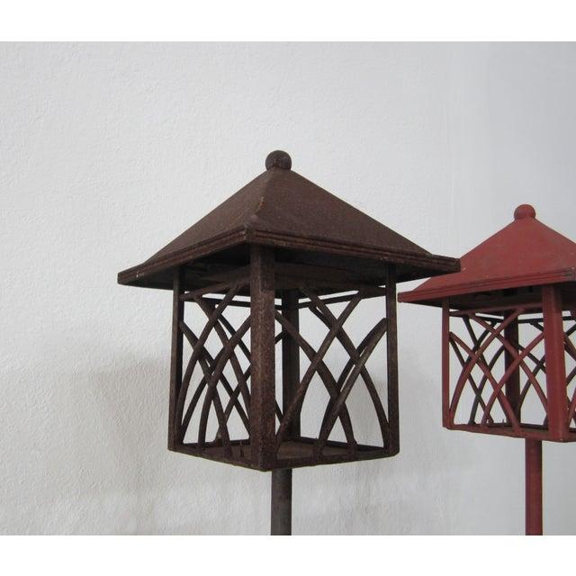 Metal Outdoor Lanterns - Pair - Image 5 of 5