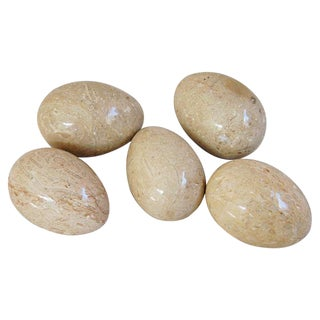 Italian Polished Marble Eggs - Set of 5