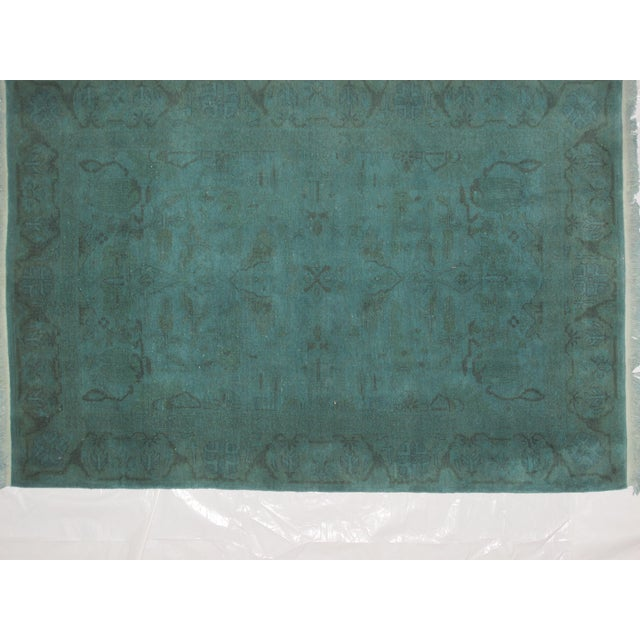 "Leon Banilivi Over-Dyed Green Wool Rug - 6' X 4'3"" - Image 3 of 5"