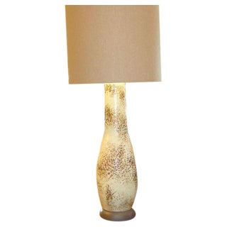 Monumental Modern Mottled Glaze Table Lamp