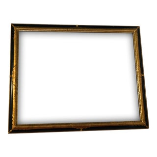 Large Black & Gold Rectangular Mirror by Milch & Sons