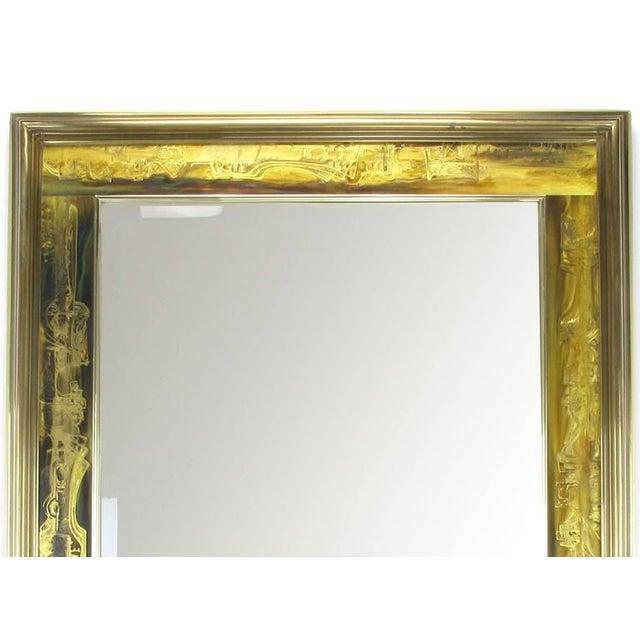 Pair of Mastercraft Bernhard Rohne Acid-Etched Frame Beveled Mirrors - Image 8 of 8