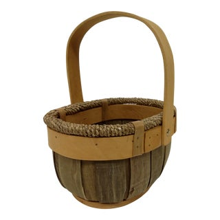 Vintage Bentwood Apple Basket